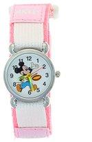 TimerMall Children Boys Girls Pink Nylon Velcro Tape Quartz Cartoon Mickey Analogue Watches