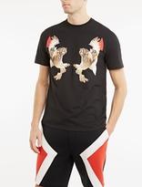 Neil Barrett Black Owl Motif T-shirt