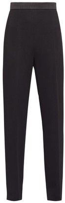 Fendi Satin-trimmed Side-tie Crepe Tuxedo Trousers - Womens - Black
