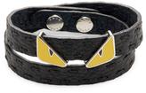 Fendi Double Tour Leather Wrap Bracelet