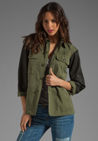 Tylie Vintage Redux Military Jacket with Spray Sleeves