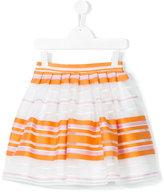 Il Gufo striped skirt - kids - Cotton/Polyamide - 8 yrs