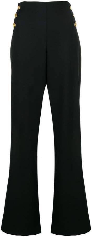 Edward Achour Paris high waist flared trousers