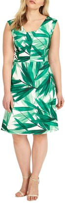 Studio 8 Thea Dress, Green/Ivory