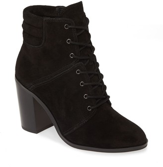 MICHAEL Michael Kors Thatcher Suede Lace-Up Block Heel Bootie
