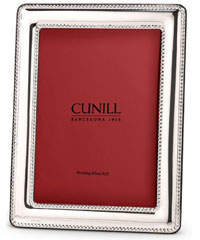 "Cunill America Palacio Pearls Sterling Silver Picture Frame - 5"" x 7"""