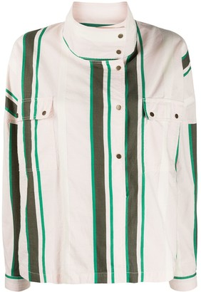 Closed Poe striped boxy-fit jacket
