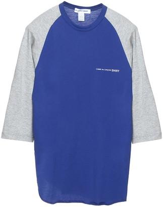 Comme des Garçons Shirt Logo Cropped Sleeve T-Shirt