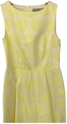 Hallhuber Yellow Cotton - elasthane Dress for Women