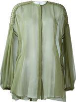 Givenchy billowing sleeve sheer blouse