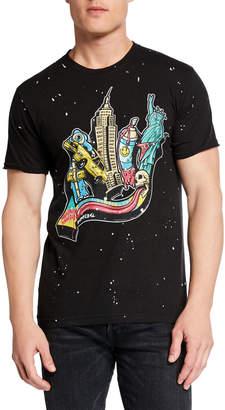 Dom Rebel Domrebel Men's Paint-Splatter Graphic T-Shirt