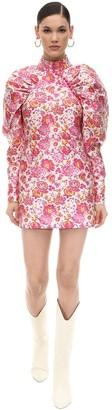 Rotate Jacquard Mini Dress