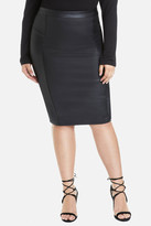 Fashion to Figure Luca Faux Leather Pencil Skirt