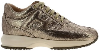 Hogan Sneakers Sneakers In Laminated Leather With Rounded H