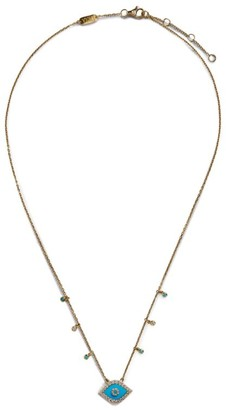Djula Yellow Gold And Diamond Eye Necklace