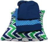 Bacati Mix and Match Zigzag/Dots 3-Piece Toddler Bed Sheet Set