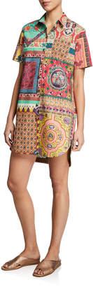Etro Cotton Polo Short-Sleeve Dress