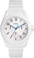 Fossil Men's Poptastic White Silicone Strap Watch 44mm FS5223