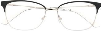 Calvin Klein Square-Shaped Logo Glasses
