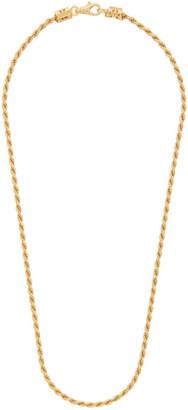 Emanuele Bicocchi SSENSE Exclusive Gold Birdcage Knots Chain Necklace