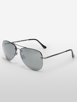 Calvin Klein Unisex Mirror Lens Aviator Sunglasses