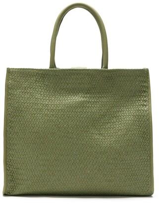 Sarah Chofakian Leather Woven Tote Bag