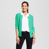 Merona Women's 3/4 Sleeve Crew Favorite Cardigan Tumble Green