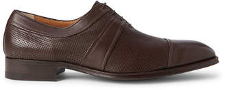 a. testoni A.Testoni Dark Brown Perforated Leather Derby Shoes
