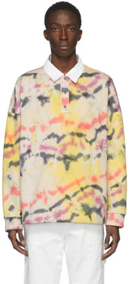 Wooyoungmi Yellow and Multicolor Tie-Dye Polo