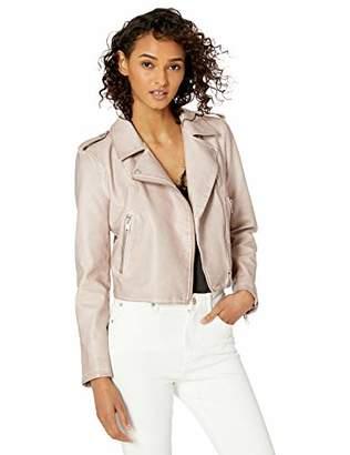 The Drop Carmen Faux Leather Moto Jacket,M