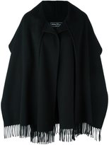 Salvatore Ferragamo fringed oversized coat