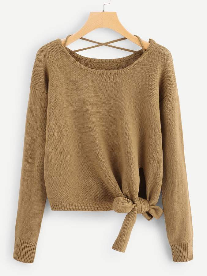5d656c7173 Criss Cross Sweater - ShopStyle
