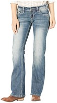 Rock and Roll Cowgirl Riding Bootcut in Dark Vintage W7-3450 (Dark Vintage) Women's Jeans