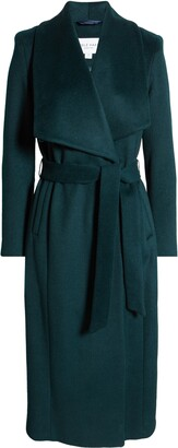 Cole Haan Slick Wool Blend Wrap Coat