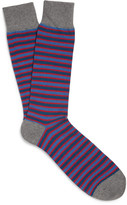J.Crew Striped Cotton-Blend Socks