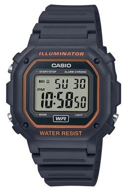 Casio Men's Digital Illuminator Sport Watch, Gray Resin F108WH-8A2