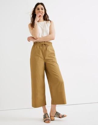 Madewell Poplin Smocked Huston Pull-On Crop Pants