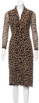Burberry Silk Printed Dress w/ Tags