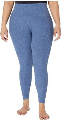 Beyond Yoga Plus Size High Waisted Midi Leggings (Serene Blue/Hazy Blue) Women's Workout