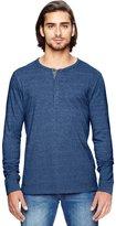 Alternative Mens Basic Eco-Mock Twist Henley Shirt