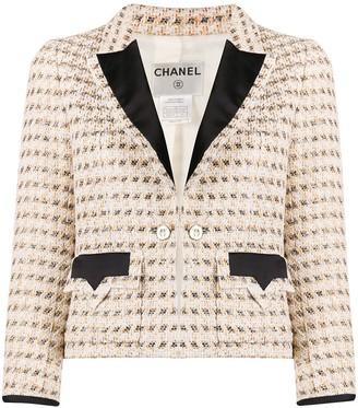 Chanel Pre Owned Lurex Tweed Jacket