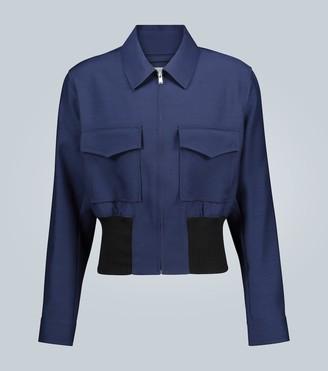 Lanvin Wool and silk-blend blouson jacket