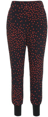 Stella McCartney Polka-dot stretch-crepe skinny pants