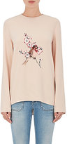 Stella McCartney Women's Embroidered Crepe Top-PINK