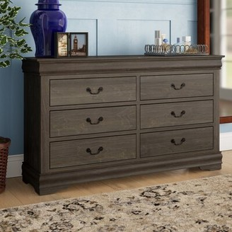 Grove Lane Emily 6 Drawer Double Dresser Grovelane Color: Antique Gray
