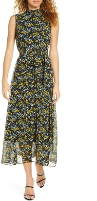 Sam Edelman Ditzy Print High Neck Maxi Dress