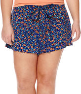Arizona Low-Rise Wrap Shorts - Juniors Plus