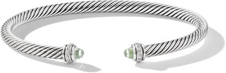 David Yurman Sterling Silver Diamond Cable Bangle