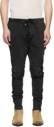 Greg Lauren Black Work Cargo Pants