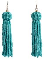 Women's Fashion Tassel Drop Earring - Gold/Turquoise
